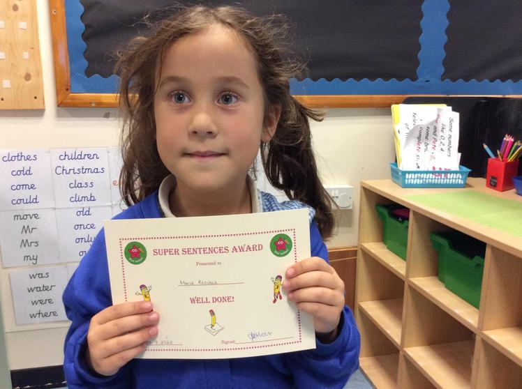 Week 3 - Maria for super sentence writing.