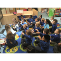 We enjoyed the story telling session 'fly me to the moon.'