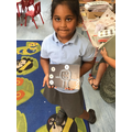 We created our own pictures using the nuts and washers.
