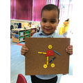 Kuba used the tap-a-shapes to make a picture of himself