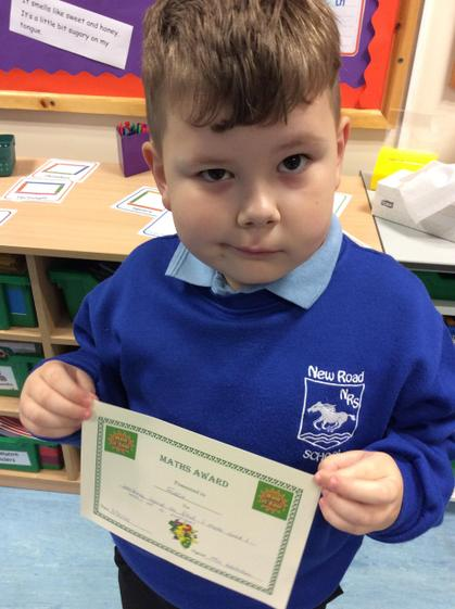 Week 4- Freddie for working hard to find 1 more and 1 less.