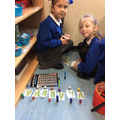Practising less than greater then in our Maths area.