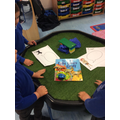 We read the story 3 billy goats gruff and acted out the story ourselves.