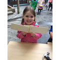 Connie used the tool to make an areoplane