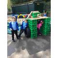 Building a den in the outdoor area