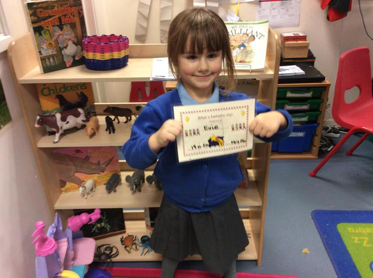 Well done Evie for having a super week.