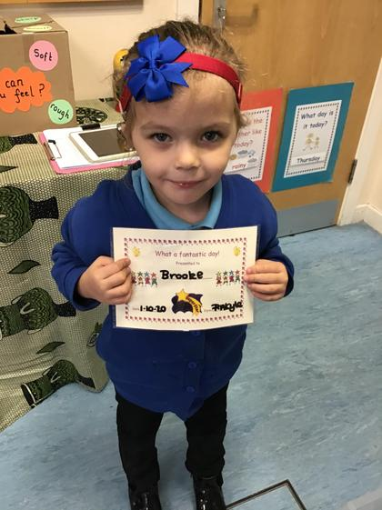 Well done Brooke for having a super week.