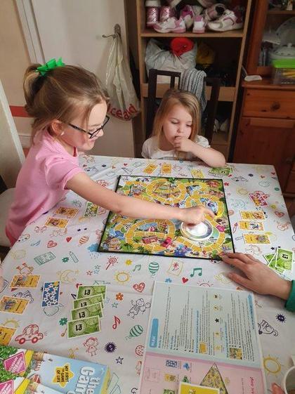 Elsie Mae playing board games (Y3)
