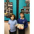 Well done Joshua & Caiden for explaining the maths task to the whole class! :)
