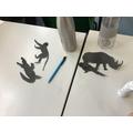 We cut animal figures