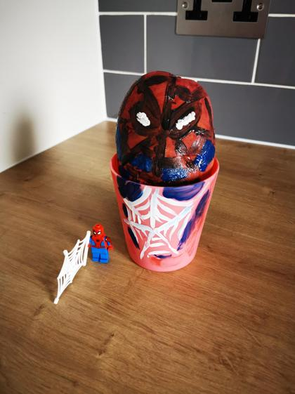 Spiderman by Aron in Caterpillar class