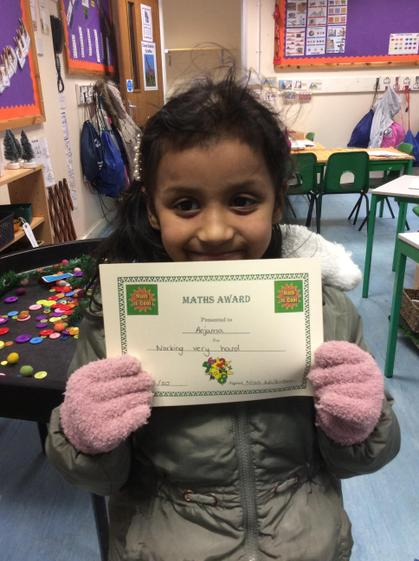 Anjuma for working hard to improve her maths skills.