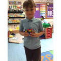Elijah made Captain Scott, his sledge and dog from Lego.