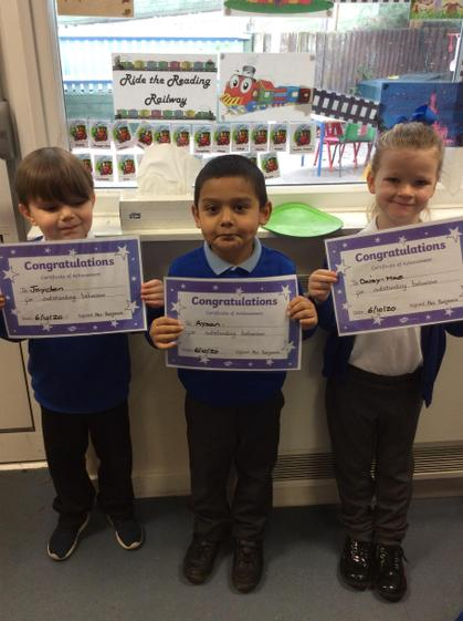 Well done Jayden, Ayaan and Daisy-Mae.