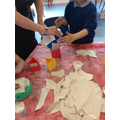 We have started to make the planets out of paper mache'