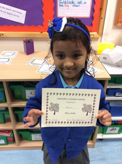 Week 4- Anjuma for working hard to complete all the challenges.