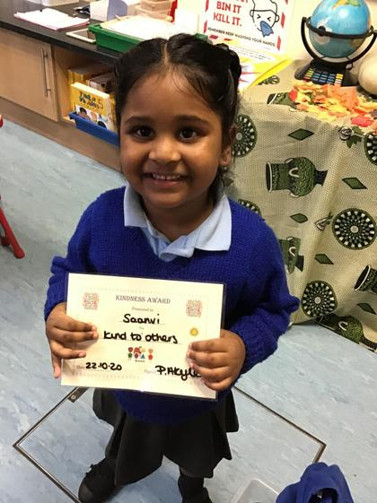 Well done Saanvi for being a super friend.