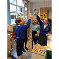 Team work and problem solving building the tallest tower