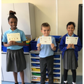 Naomi- Ravenous Reading, Zachary-Kindness,Arrisa- Super Sentences, Joshua-Maths