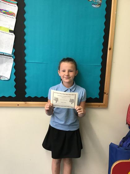 Awesome Learning Award for Evie :)