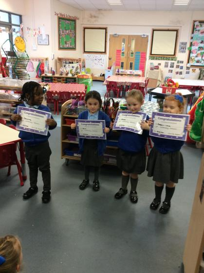 Well done Zara ,Jaclynne,  Reegan  and Aimee  for  your outstanding  learning.