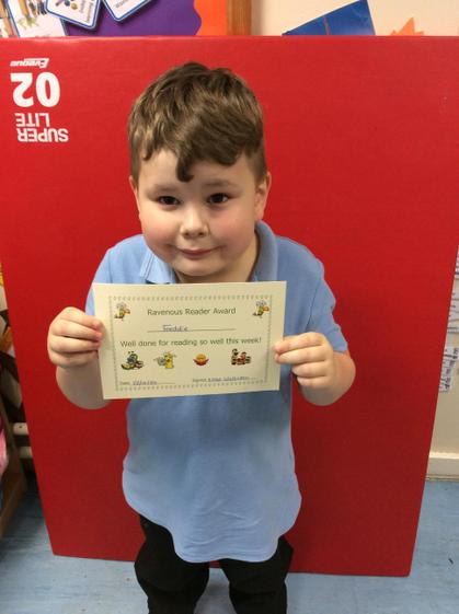 Week 7- Freddie for his fantastic reading homework about Goldilocks and the 3 bears.