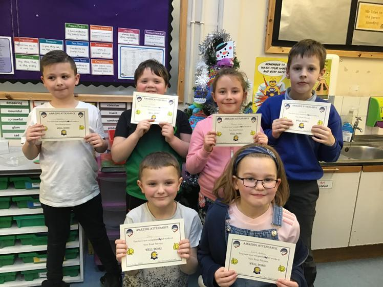 Term 1 and 2 100% Attendance