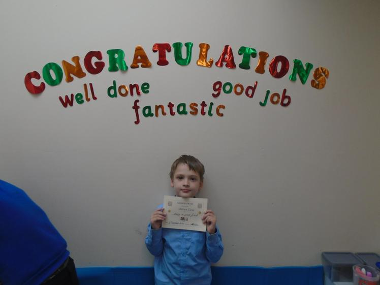Well done to Joshua who has been a good friend to his peers.
