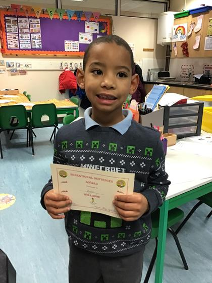 Kyron for writing a good sentence about Christmas traditions.