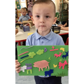 Super picture making with fuzzy felts