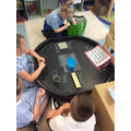 Group discussion about how to sort the materials and why.