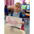 Scarlett drew a picture of Goldilocks and the 3 bears