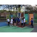 With such good weather it was difficult to resist a game of basketball.