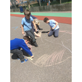 The Sun was chalked as a group effort