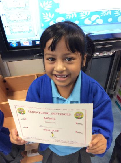 Week 2 - Eliza for writing a fantastic sentence about the 3 little pigs.