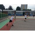 Practising batting skills for rounddPractising battingskills for round