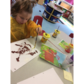 Isla-Rose painted a fantastic picture of the big billy goat from our story.