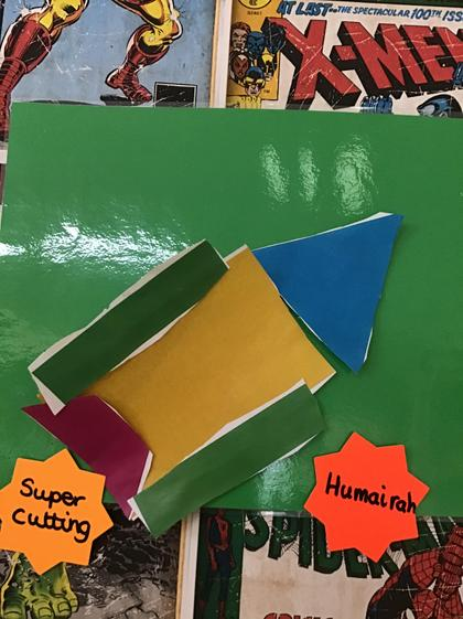 Well done Humairah, super cutting to create your shape rocket.