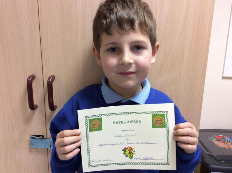 Week 7 - Max Tarrant for his maths work.