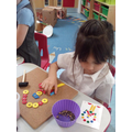 Aliah followed instructions and is able to make the same pattern