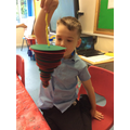 Joshua really enjoyed making his tornado