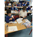 Matching fractions with their pictures..