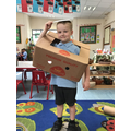 We are using our imagination with the boxes. It's not a box!
