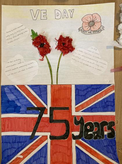 Lacey-Ann's VE Day poster (Y5)