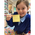 We can write labels for the items we make.