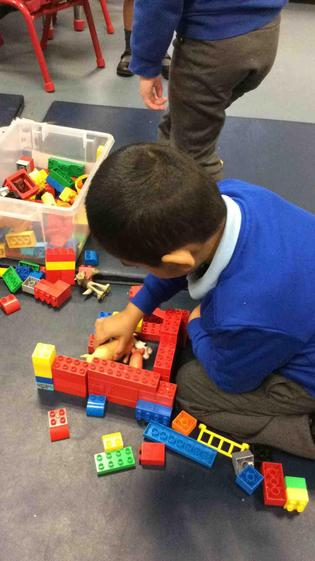 Well done Ayaan for building a house for the pigs to keep them safe from the big bad wolf.
