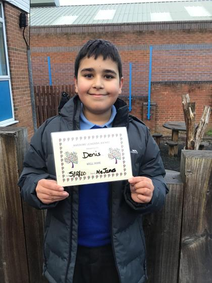 Denis has worked hard across all subjects.