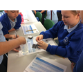 We tested shoe scrapings from the shoes of the suspects