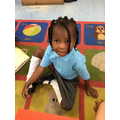 Zipporah enjoyed her first day in Bumblebee Class