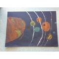Oliver's pastel art Solar system